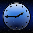 Stock Photo: Transparent clock in space