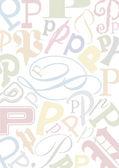 Arrière-plan avec la lettre p — Vecteur