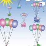 Buggies flying in the sky — Stock Vector #3147086