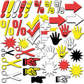 Graphic signs and symbols — Stock Vector