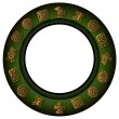 Royalty-Free Stock Vector Image: Round green border with mexican signs and symbols