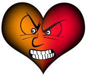 Corazón furios — Vector de stock