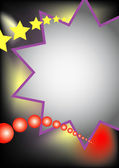 Big star with red balls — Foto Stock