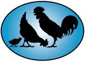 Chicken family — Stock Vector