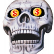 Skull with Dollar Signs - Stock Photo