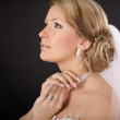 Beautiful bride, a blonde in the studio — Stock Photo