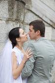 Passionate newlyweds — Stock Photo