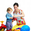 The portrait of a little boy and his mother — Stock Photo #3313373