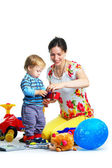 The portrait of a little boy and his mother — Stock Photo