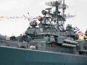 Detail of warship — Stock Photo