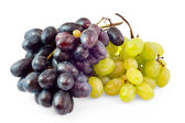 Clusters of black and white grapes — Stock Photo