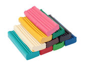Pile of colored plasticine bricks — Stock Photo