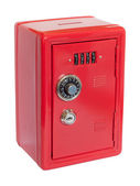 Red moneybox safe — Stock Photo