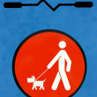 Dog Disposal Sign — Stock Photo