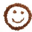 Laughing coffee smiley — Stock Photo