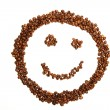 Stock Photo: Laughing coffee smiley