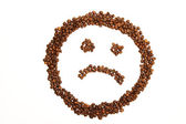 Sad coffee smiley — Stockfoto