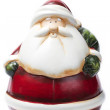 Fat red green santa figurine — Stock Photo