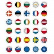 Icons whit EU Flags — Stock Vector