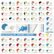 Royalty-Free Stock Vector Image: Stickers with all european  flags
