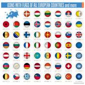 Bandeiras de todos os países europeus — Vetor de Stock