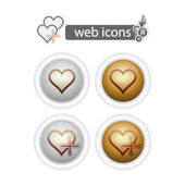 Round web icons-hart — Stock Vector