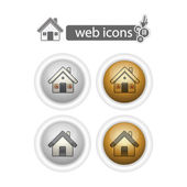 Round web icons-home — Stock Vector