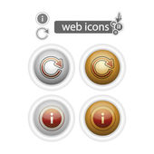 Round web icons-refresh and info — Stock Vector