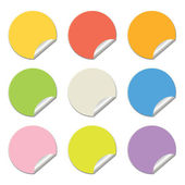 Round colored stickers — Stock Vector