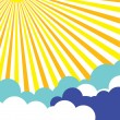 Sunny Sky Poster Background - Stok Vektr