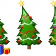A christmas tree vector illustration - Stock Vector