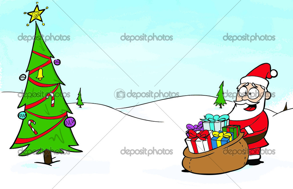 A cartoon-style Christmas card vector design. — Stock Vector #2938207