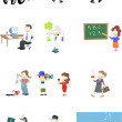 Characters in various professions — Stock Vector