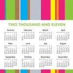 2011 Calendar — Stock Vector #3429858