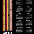 2011 Retro Calendar — Stock Vector