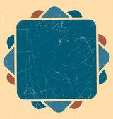 Fond rétro géométrique — Vecteur