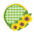 Ornament with sunflowers — Stock Vector