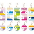 Collection of colorful gift tags — Stock Vector