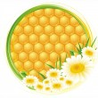 Honeycomb background - Stock Vector