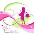 Fashion woman silhouette — Image vectorielle