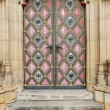 Church gothic door - Stock Photo