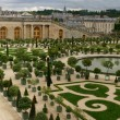 Wide panorama of famous versailles - Stock Photo