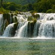 Famous waterfall in national park krka - Stock Photo