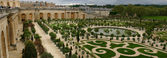 Wide panorama of famous versailles — Stock Photo