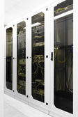 Racks with network equipment — Stock Photo