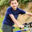 Young biker — Stock Photo