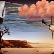 Desert Sky - Surreal Digital Painting — Stockfoto