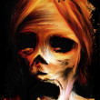 Fear Corpse Painting - Stock Photo
