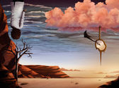 Desert Sky - Surreal Digital Painting — Stock Photo