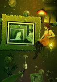 Drink Me - digital painting — Stock Photo